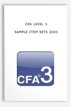 Sample Item Sets 2003 by CFA Level 3